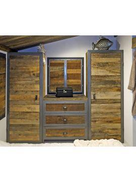 dressing métal et bois hêtre