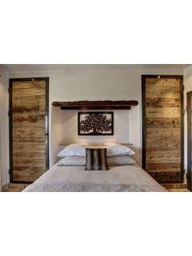 porte métal et bois hêtre